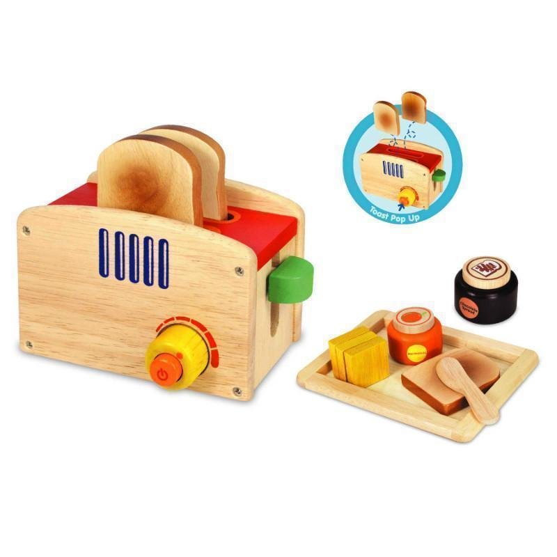 Wooden Pop up Toaster set-Im Toy-My Happy Helpers