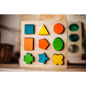 Wooden Shape Puzzle Board-[product_vendor-My Happy Helpers