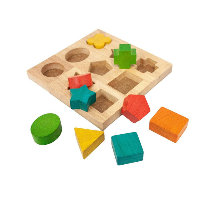 Wooden Shape Puzzle Board