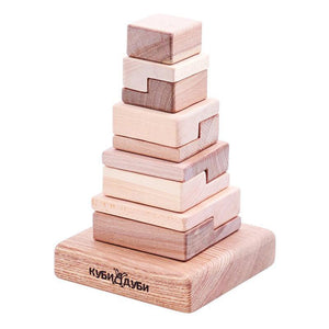 Wooden Stacking Puzzle - Techno-Kubi Dubi