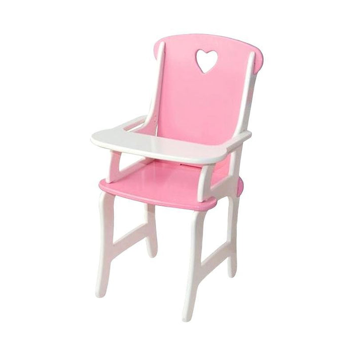 Wooden Toy Doll Highchair