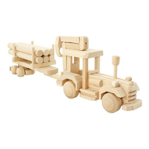 Wooden Tractor With Logs - Fergus-Bartu