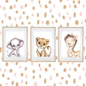 Zeus the Lion Cub | Boys wall art-[product_vendor-My Happy Helpers