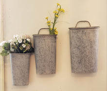 Load image into Gallery viewer, Galvanized Wall or Door Decor Bucket Thursday, October 3rd, 630-830 pm