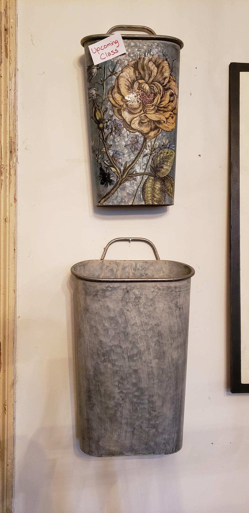 Galvanized Wall or Door Decor Bucket Thursday, October 3rd, 630-830 pm