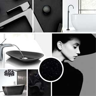 Black bathroom fittings and packages online at The Blue Space