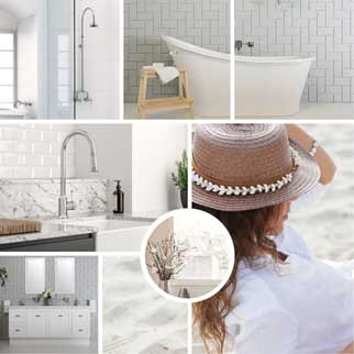 Hamptons bathroom and kitchen packages online at The Blue Space