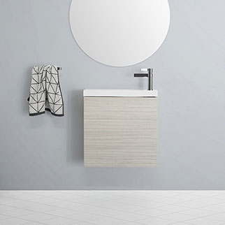Small Custom Made Bathroom Vanities for Small Bathrooms or Powder Rooms Online at The Blue Space