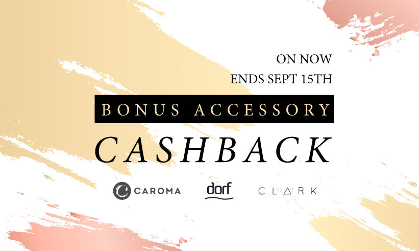 Clark Dorf Caroma Bathroom Accessories Free Cashback Bonus