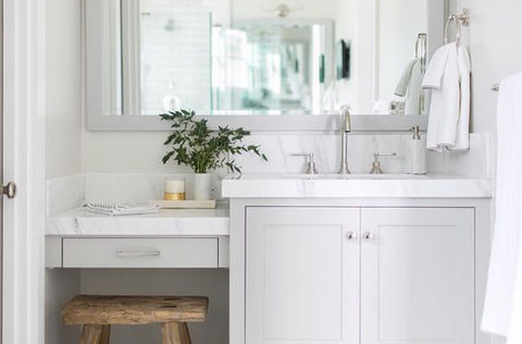 Hamptons style bathroom in white