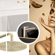 Gold bathroom and kitchen tapware for sale online, best prices at The Blue Space