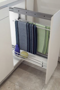 Furnware Kitchen Tea Towel Rack Pull out