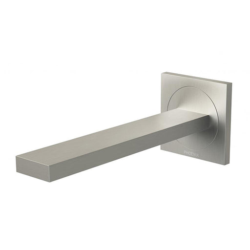 Phoenix Ortho Wall Basin/Bath Outlet 200mm - Brushed Nickel