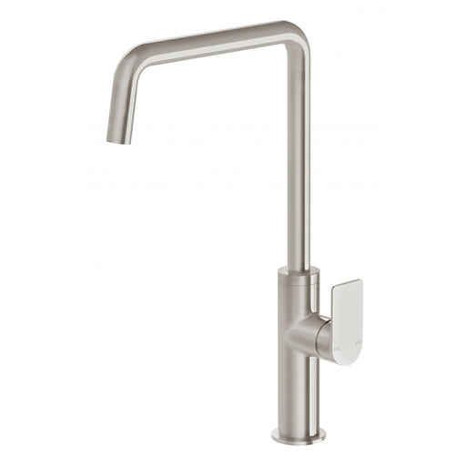 Phoenix Mekko Sink Mixer 190mm Squareline -Brushed Nickel