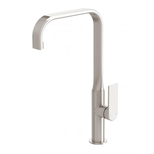 Phoenix Teel Sink Mixer 200mm Squareline - Brushed Nickel at The Blue Space