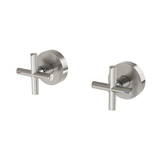 Phoenix Vivid Slimline Plus Wall Top Assemblies 15mm Extended Spindles - Brushed Nickel online at The Blue Space