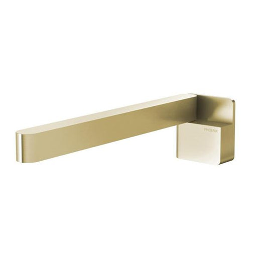 Phoenix Designer Swivel Bath Outlet 230mm Square - Brushed Gold - The Blue Space