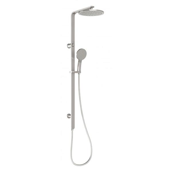 Phoenix NX Quil Twin Shower - Brushed Nickel Online at The Blue Space