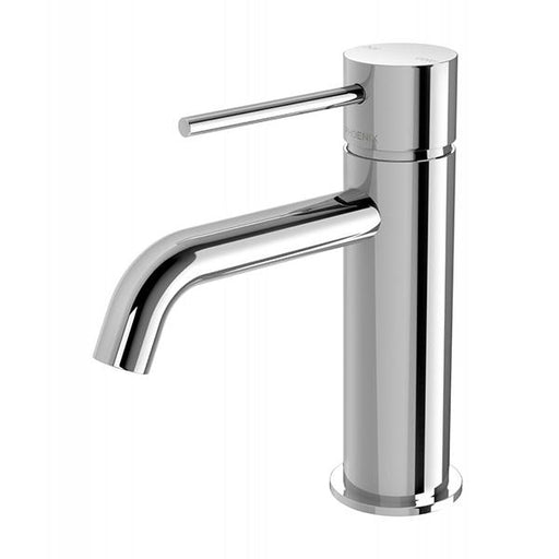 Phoenix Vivid Slimline Basin Mixer Curved Outlet - Chrome Online at The Blue Space