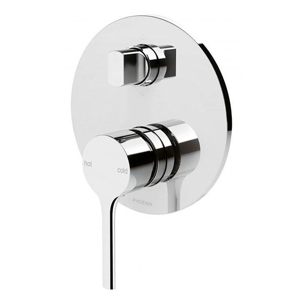 Phoenix Vivid Slimline Oval Shower/Bath Diverter Mixer - Chrome Online at The Blue Space
