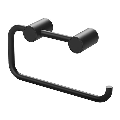 Phoenix Vivid Slimline Toilet Roll Holder-Matte Black
