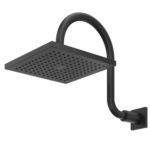 Methven Rere Wall Shower On Swan Arm Matte Black
