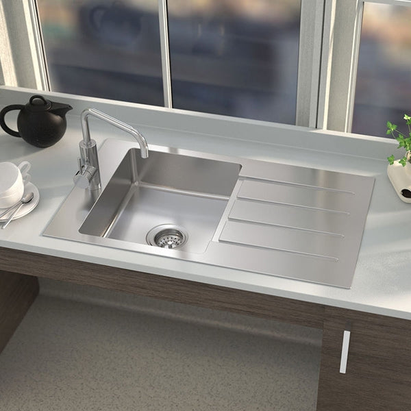Caroma Evolution Care Single End Bowl Overmount Sink by Caroma - The Blue Space