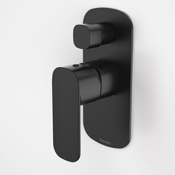 Caroma Contura Bath/Shower Mixer With Diverter - Matte Black by Caroma - The Blue Space