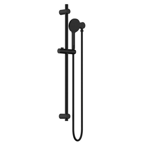 Clark Round Rail Shower with removable hand shower - Matte Black - The Blue Space