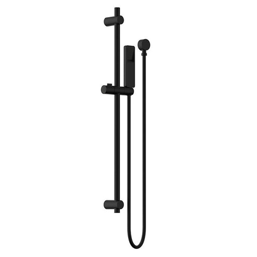 Clark Square Rail Shower - Matte Black - The Blue Space
