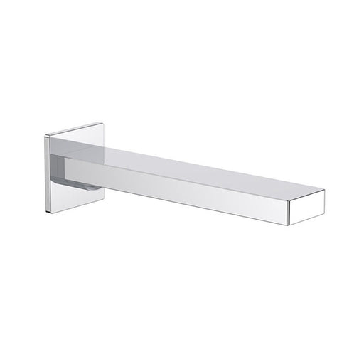 Clark Square Wall Basin/Bath Outlet 220mm - Chrome - The Blue Space