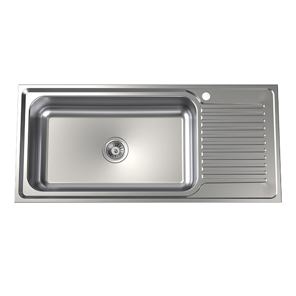 Clark Punch Mega Bowl Kitchen Sink right hand drainer - The Blue Space