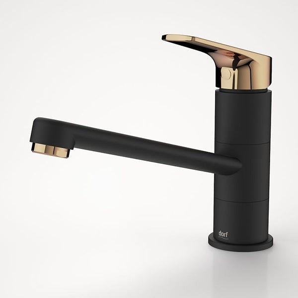 Dorf Kip Sink Mixer - Black/Rose Gold - The Blue Space
