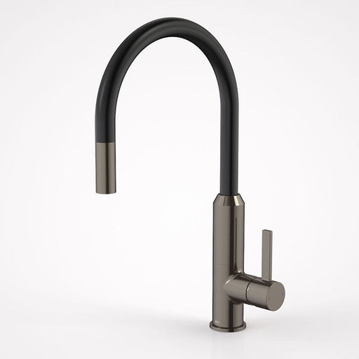 Dorf Vixen Retractable Sink Mixer Black Nickel