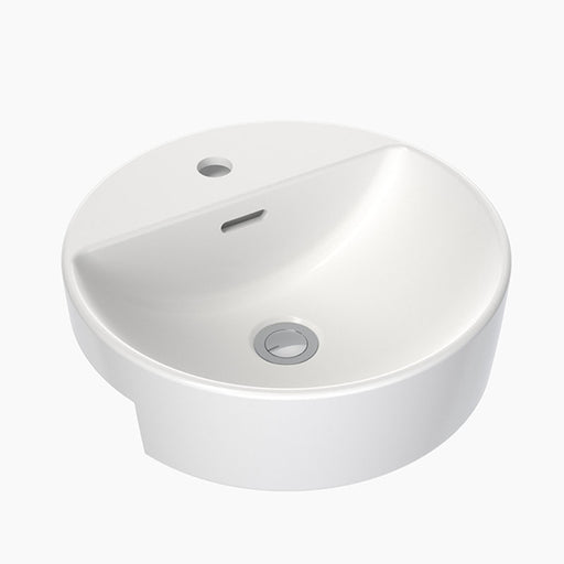 Clark Round Semi Recessed Basin 400mm with overflow - The Blue Space
