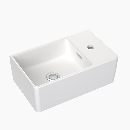 Clark Square Hand Wall Basin One Taphole - The Blue Space