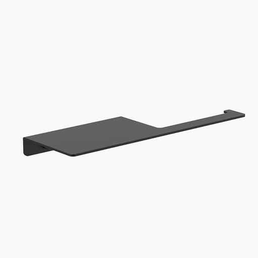 Clark Square Toilet Roll Holder with Shelf - Matte Black - The Blue Space