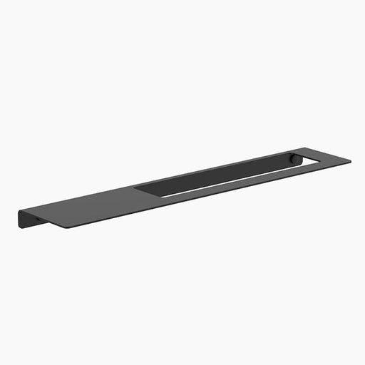 Clark Square Hand Towel Rail with shelf - Matte Black - The Blue Space