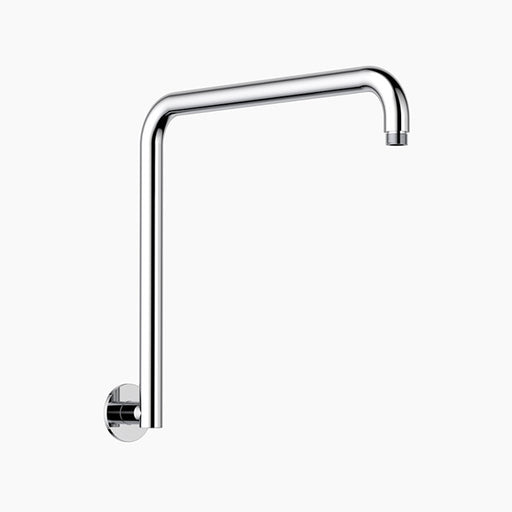Clark Upswept Wall Shower Arm 400mm - Chrome - The Blue Space