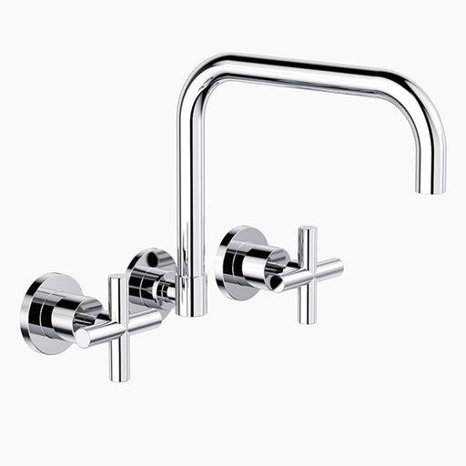 Clark Cross Wall Sink Set - Chrome - The Blue Space