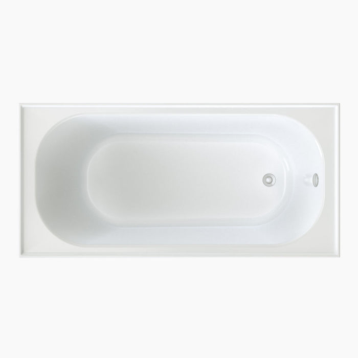 Clark Round Shower Bath with overflow 1525mm - The Blue Space