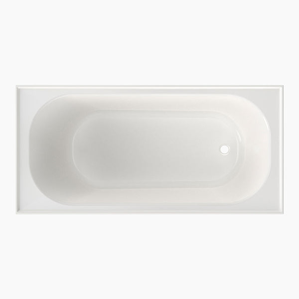 Clark Round Four Tile Flange Shower Bath without overflow 1525mm - The Blue Space