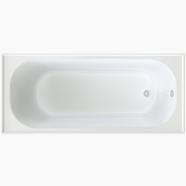 Clark Round Shower Bath with overflow 1675mm - The Blue Space