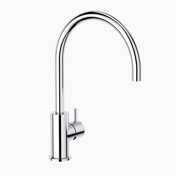 Clark Round Pin Kitchen Sink Mixer - Chrome - The Blue Space