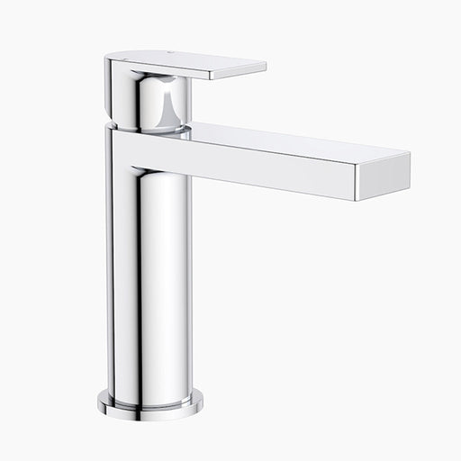 Clark Round Square Bathroom Basin Mixer - Chrome - The Blue Space