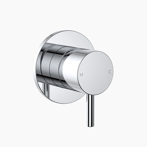 Clark Round Pin Wall Shower Mixer - Chrome - The Blue Space