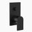 Clark Round Square Wall Mixer with Diverter - Matte Black - The Blue Space