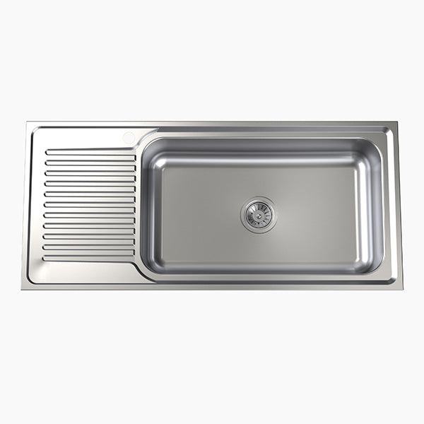 Clark Punch Mega Bowl Kitchen Sink left hand drainer - The Blue Space