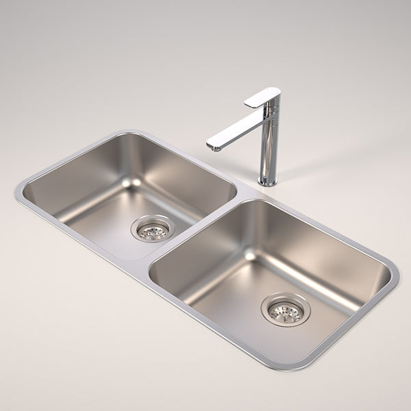 Caroma Contemporary Double Bowl Kitchen Sink Best Price