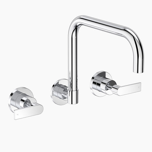 Clark Lever Wall Sink Set - Chrome